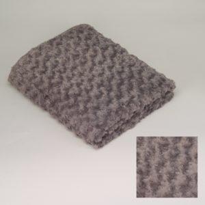 Plaid gris foncé Simla 130x170cm