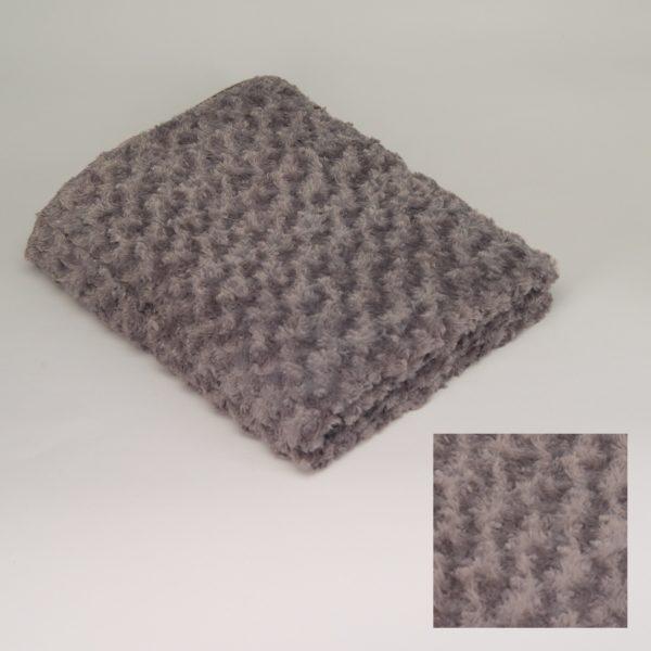 p 1 6 2 4 1624 Plaid gris fonce Simla - Plaid gris foncé Simla 130x170cm