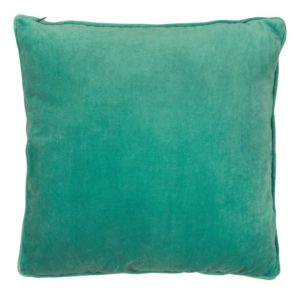 Coussin velours vert turquoise 50x50cm Lifestyle