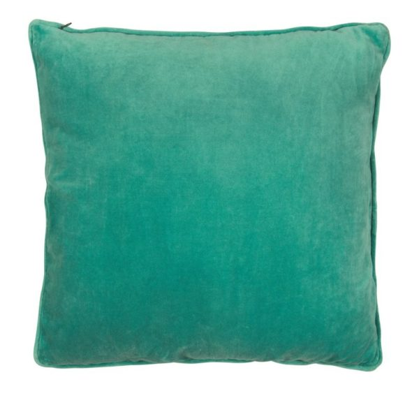 Coussin velours vert turquoise 50x50cm Lifestyle