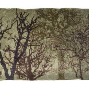 Coussin décor Nature vert et marron 50x30cm