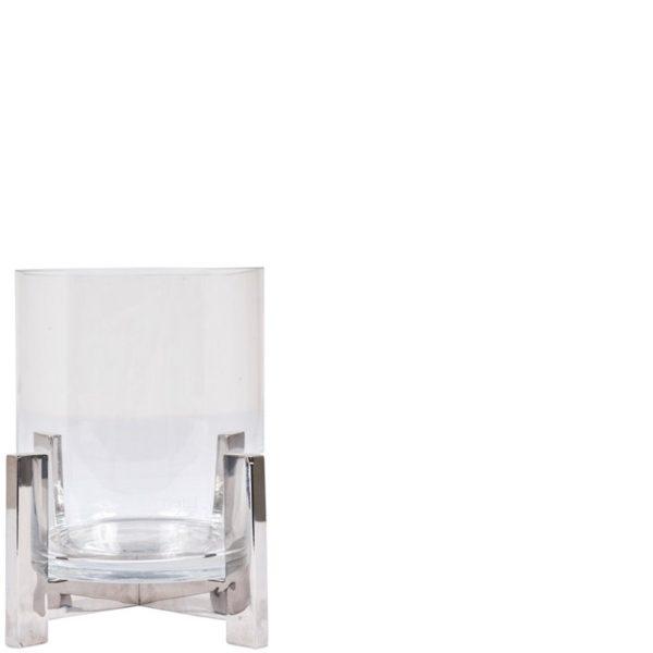 p 7 2 9 729 Lanterne verre et metal 18 cm - Lanterne verre et métal 18 cm