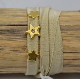 Bracelet en strech beige