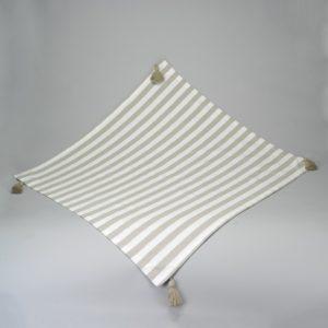 Nappe carrée taupe-blanc 180x180cm Simla