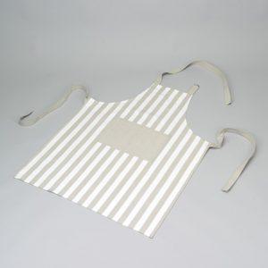 Tablier blanc-gris rayé Simla