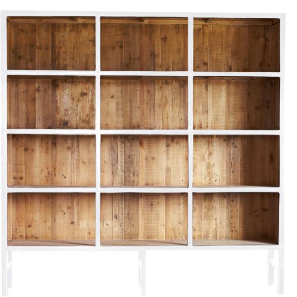 Bibliothèque Bellport L Blanc Lifestyle - Armoire en bois Blanc 230 cm Bellport