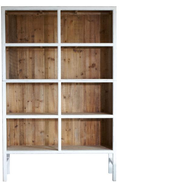 bibliothèque Bellport Blanc 230 Lifestyle - Armoire en bois Blanc 150 cm Bellport