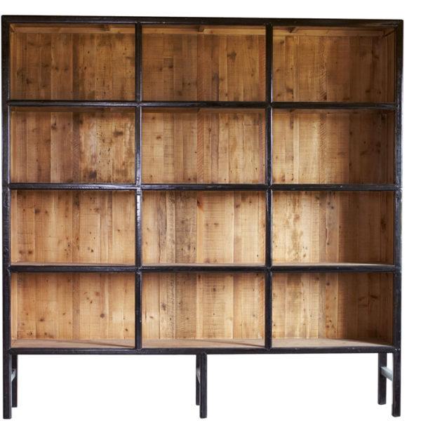 bibliothèque bellport L noir lifestyle - Armoire en bois Noir 230 cm Bellport
