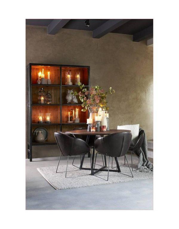 p 2 6 7 8 2678 Buffet haut noir 230cm Bellport Lifestyle - Armoire en bois Noir 230 cm Bellport