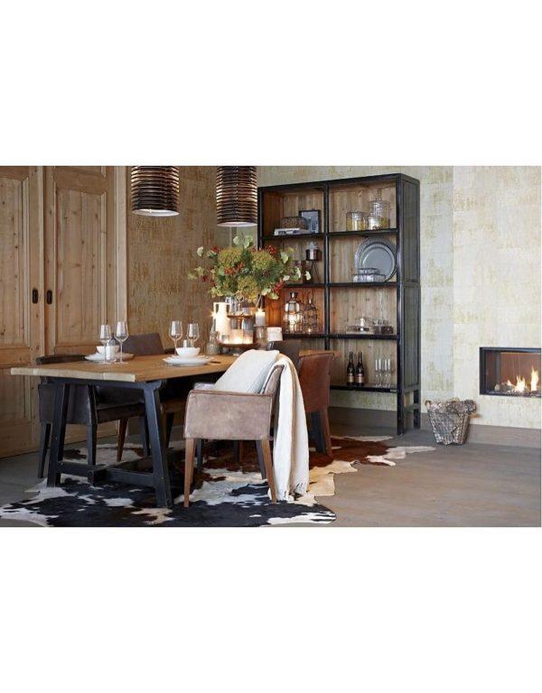 p 2 6 7 9 2679 Buffet haut noir 230cm Bellport Lifestyle - Armoire en bois Noir 230 cm Bellport