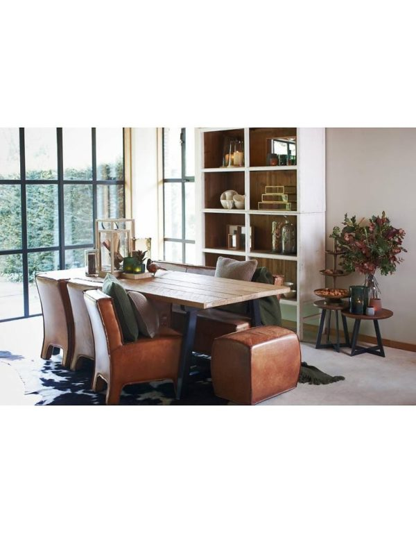 p 2 6 8 1 2681 Buffet haut blanc 150 Bellport Lifestyle - Armoire en bois Blanc 150 cm Bellport