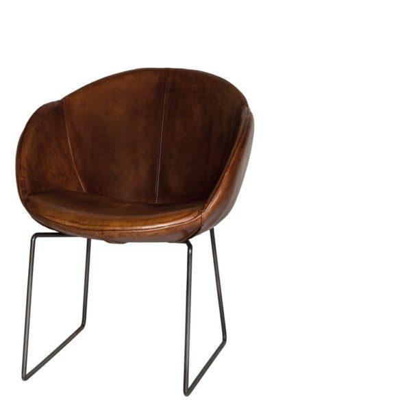 p 5 9 8 598 Chaise Cuir Los Angeles cuir marron clair Lifestyle - Chaise Cuir Los Angeles marron clair Lifestyle