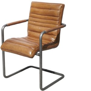 Chaise Cuir Chicago marron Lifestyle