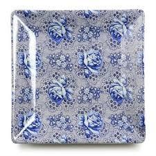 Assiettes à dessert x6 fleur bleu océan D 20cm