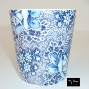 Mugs à café bleu à fleurs (par 6)
