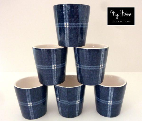 p 8 3 4 834 Mugs a cafe Jean a carreaux par 6 At Home - Mugs à café Jean à carreaux (par 6) At Home