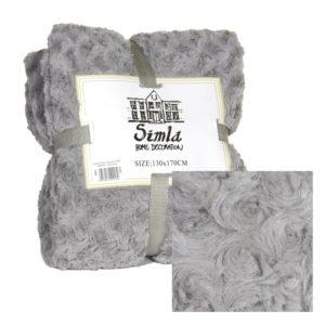 Plaid gris clair 170 x 240cm Simla