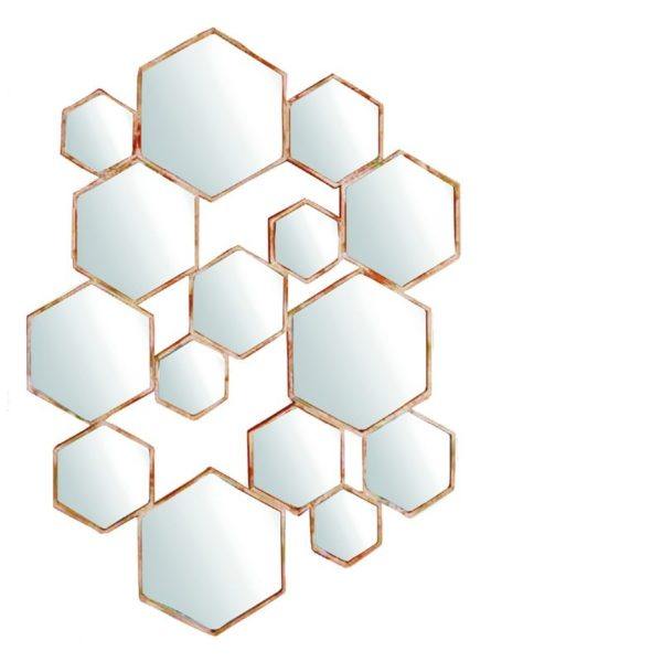 Miroir Hexagone S 58x92 cm Lifestyle