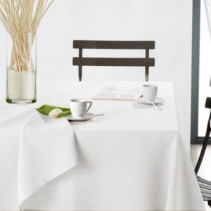 Nappe blanche Chantilly 150X250cm TODAY