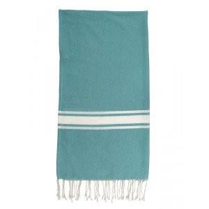TODAY-Fouta bleu turquoise 100X190cm