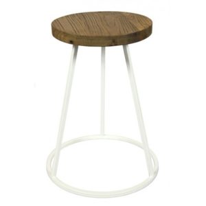 Tabouret industriel Blanc Saturn Red Cartel