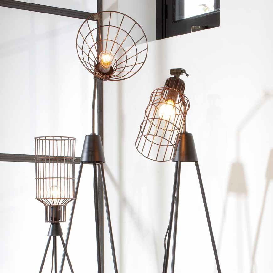 Lampe Industrielle Cylindrique Jefferson 58cm My Home Collection