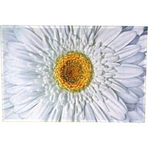 Tapis Fleur blanche