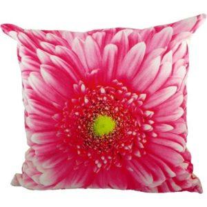 Coussin fleur rose 50x50 cm