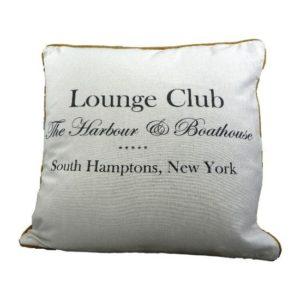 Coussin blanc Lounge Club 40x40 cm