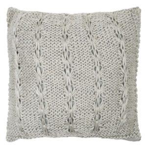 Coussin laine gris clair 50x50cm Lifestyle