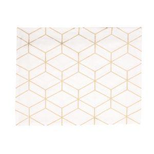 Nappe Graphique blanche 140x220 cm Present Time
