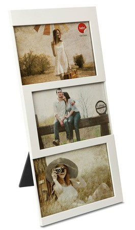 Cadre 3 photos 15x15 cm Blanc Balvi