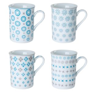 Mug bleu Tessa 30cl Coffret 4 Table Passion