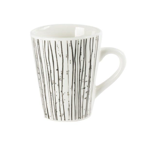 Tasse à café 10cl Noir et blanc Coffret de 8 Table Passion