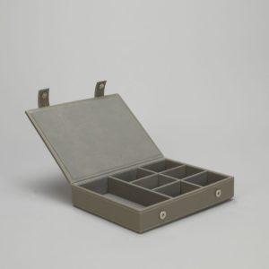 Boîte à bijoux Simla faux cuir gris
