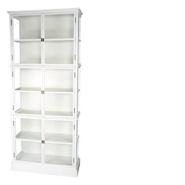 bibliothèque garpard blanc800 - Armoire Bibliothèque Vitrée Blanc Gaspard