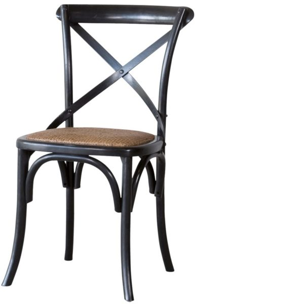 Chaise bistrot noire Lifestyle