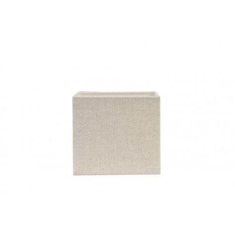 Abat-jour carré lin blanc 25cm