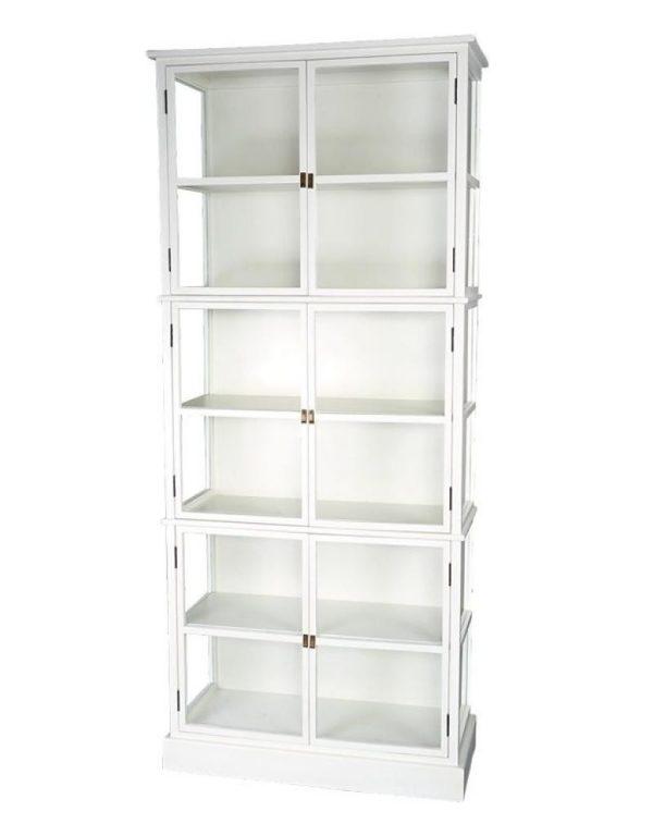 p 2 5 9 4 2594 Armoire Gaspard Lifestyle Blanc - Armoire Bibliothèque Vitrée Blanc Gaspard