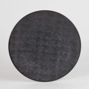 Assiette plate Noir 27cm Vésuvio Lot de 6