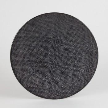 p 1 7 4 0 1740 Assiette plate Noir 27cm Vesuvio Lot de 6 - Lot de 6 Assiettes plates 27cm Noir Vésuvio