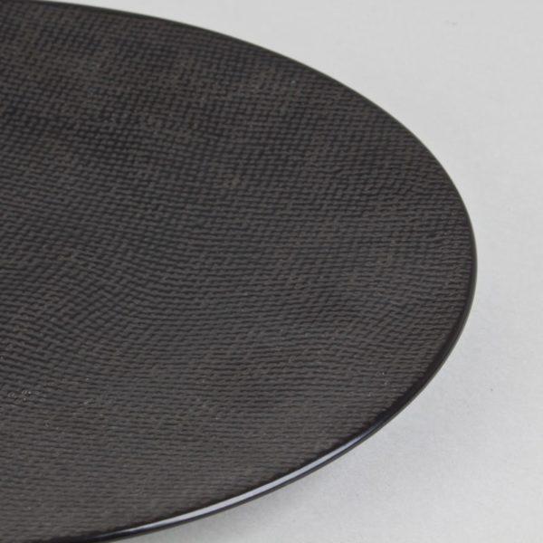 p 1 7 4 1 1741 Assiette plate Noir 27cm Vesuvio Lot de 6 - Lot de 6 Assiettes plates 27cm Noir Vésuvio