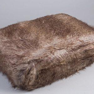 Simla-Plaid imitation renard gris130x170cm