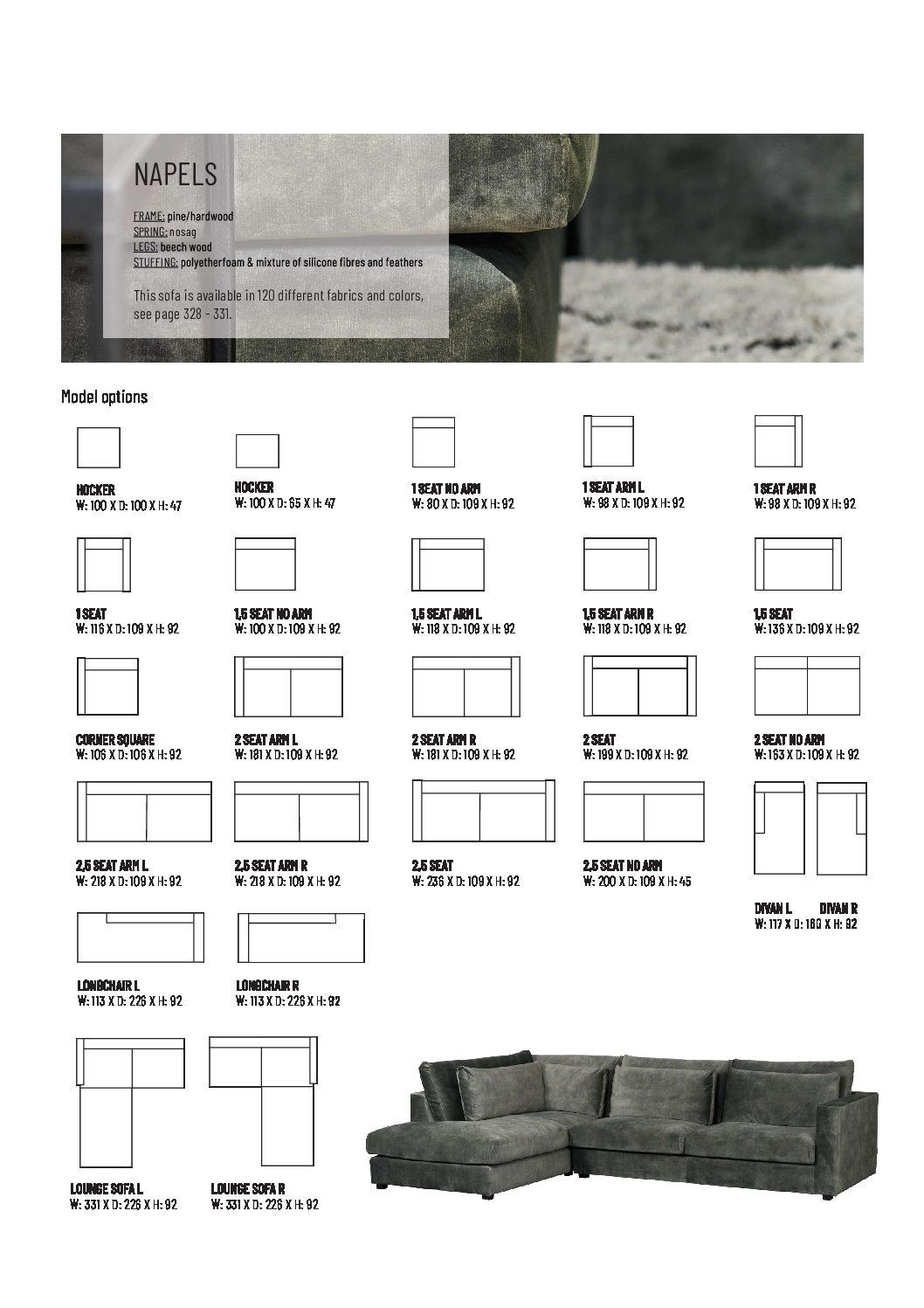 Napels pdf - Canapé d'angle Droit Gris shadow Naples