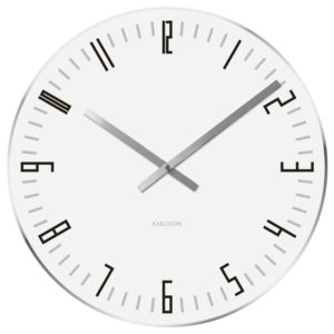 Horloge Karlsson Slim Index Blanc 40cm
