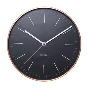 Horloge Karlsson Minimal noire cuivre