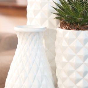 Vase blanc Cylindrique L Skye Lifestyle