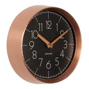 Horloge Convex Karlsson Noir et Cuivre