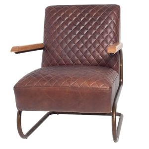 Fauteuil Edward Swing Brun Lifestyle