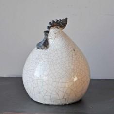 Poule céramique Blanc Simla Dia 17 H25cm